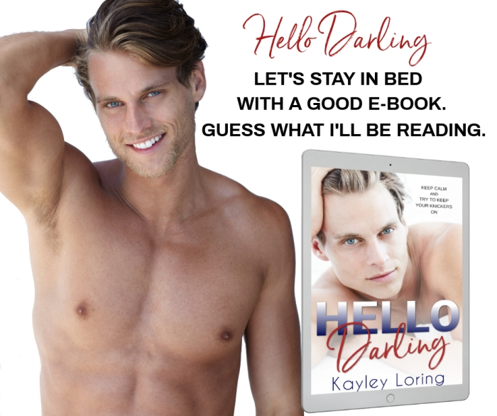 HELLO DARLING let's stay in bed facebook post